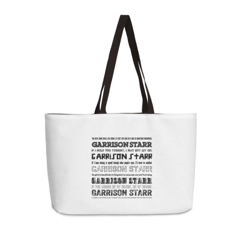 Multiple Lyrics Accessories Weekender Bag Bag by Garrison Starr's Artist Shop