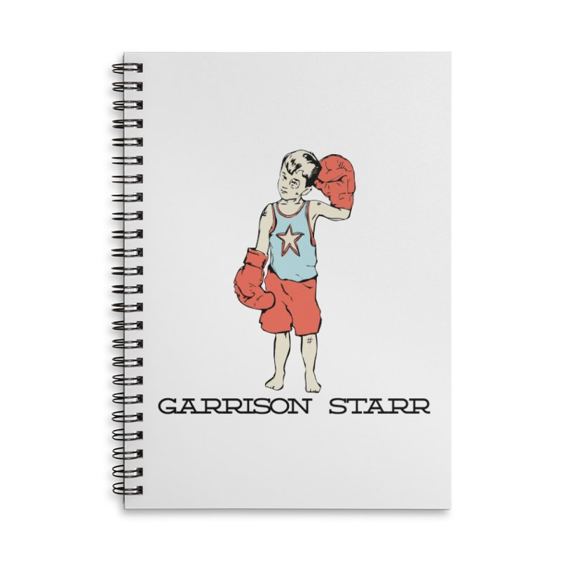 Amateur Boy - Color Accessories Lined Spiral Notebook by Garrison Starr's Artist Shop