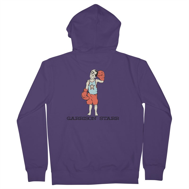 Amateur Boy - Color Women's French Terry Zip-Up Hoody by Garrison Starr's Artist Shop