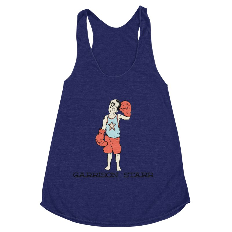Amateur Boy - Color Women's Racerback Triblend Tank by Garrison Starr's Artist Shop