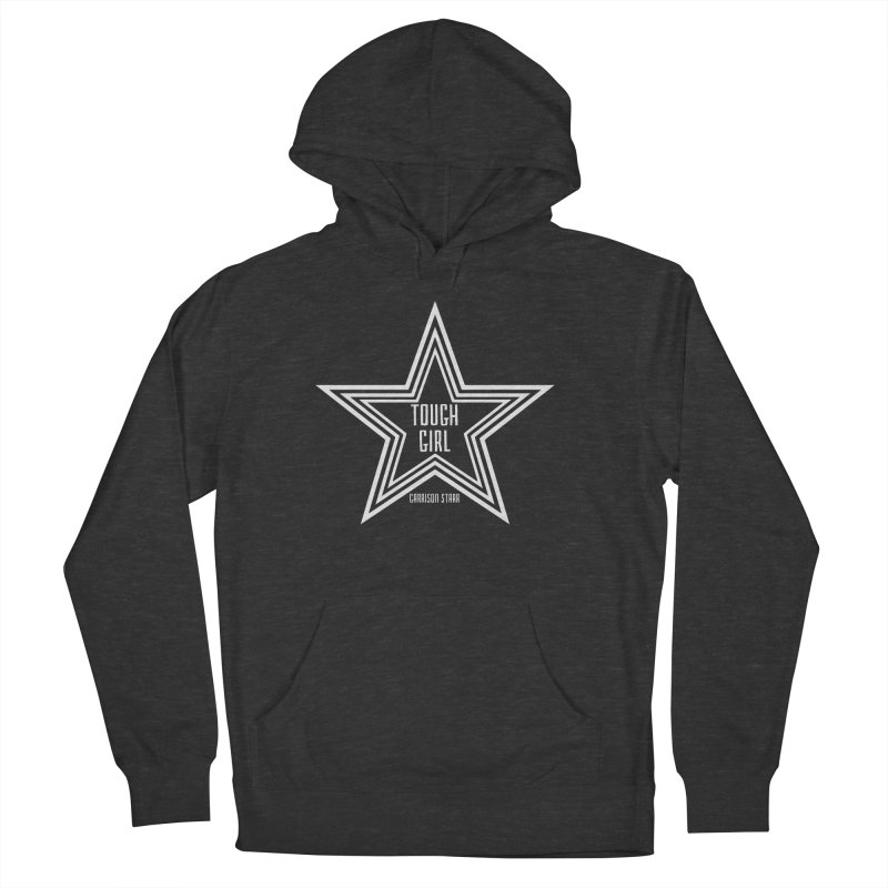 Tough Girl Star - Light Gray Men's French Terry Pullover Hoody by Garrison Starr's Artist Shop