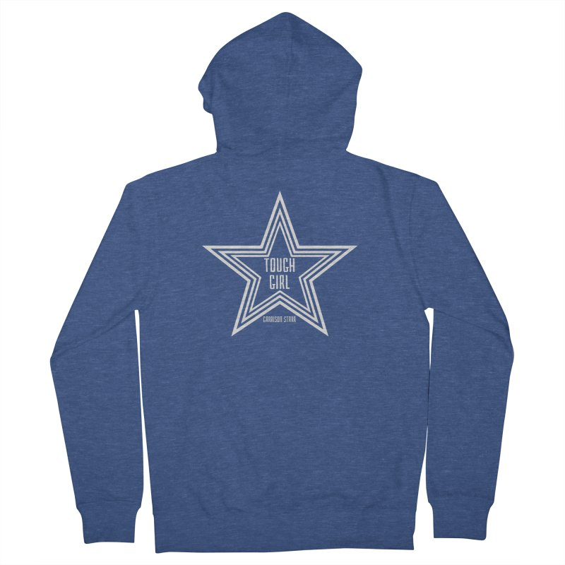 Tough Girl Star - Light Gray Men's French Terry Zip-Up Hoody by Garrison Starr's Artist Shop