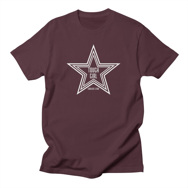Tough Girl Star - Light Gray Men's Regular T-Shirt by Garrison Starr's Artist Shop
