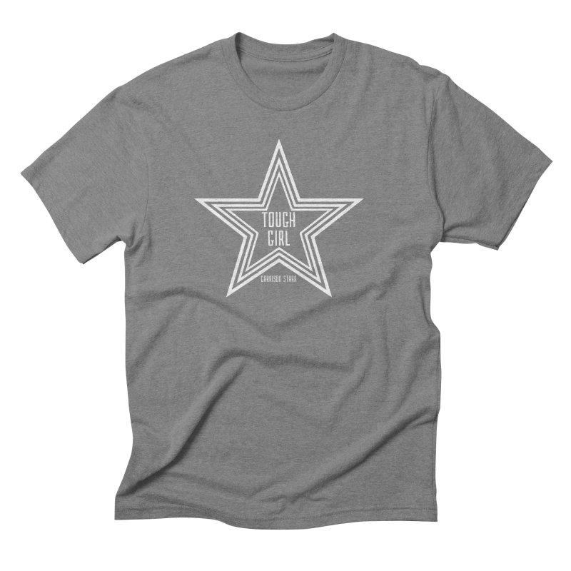Tough Girl Star - Light Gray Men's Triblend T-Shirt by Garrison Starr's Artist Shop