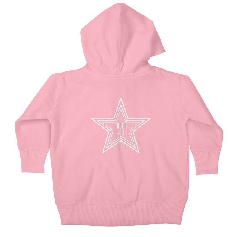 Tough Girl Star - Light Gray Kids Baby Zip-Up Hoody by Garrison Starr's Artist Shop