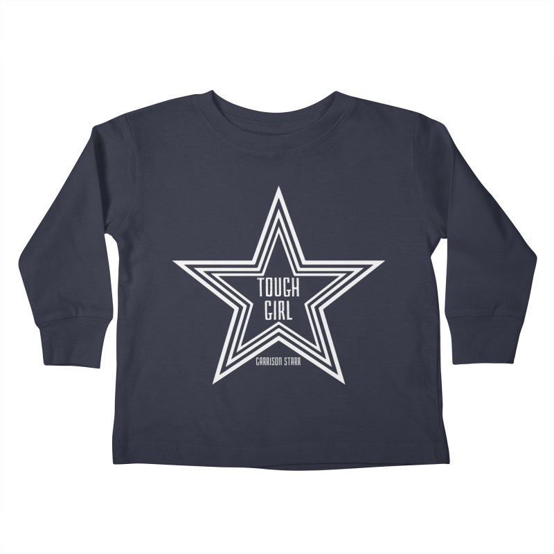 Tough Girl Star - Light Gray Kids Toddler Longsleeve T-Shirt by Garrison Starr's Artist Shop