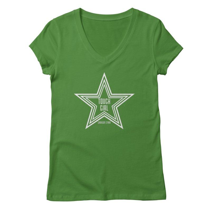 Tough Girl Star - Light Gray Women's V-Neck by Garrison Starr's Artist Shop