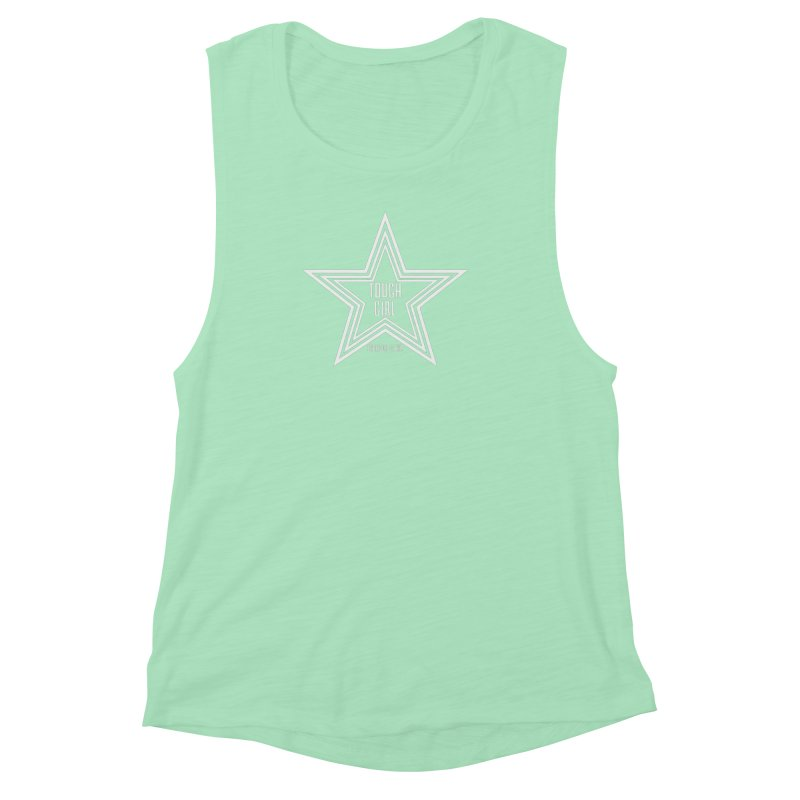 Tough Girl Star - Light Gray Women's Muscle Tank by Garrison Starr's Artist Shop
