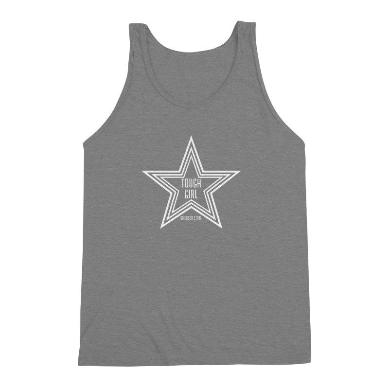 Tough Girl Star - Light Gray Men's Triblend Tank by Garrison Starr's Artist Shop