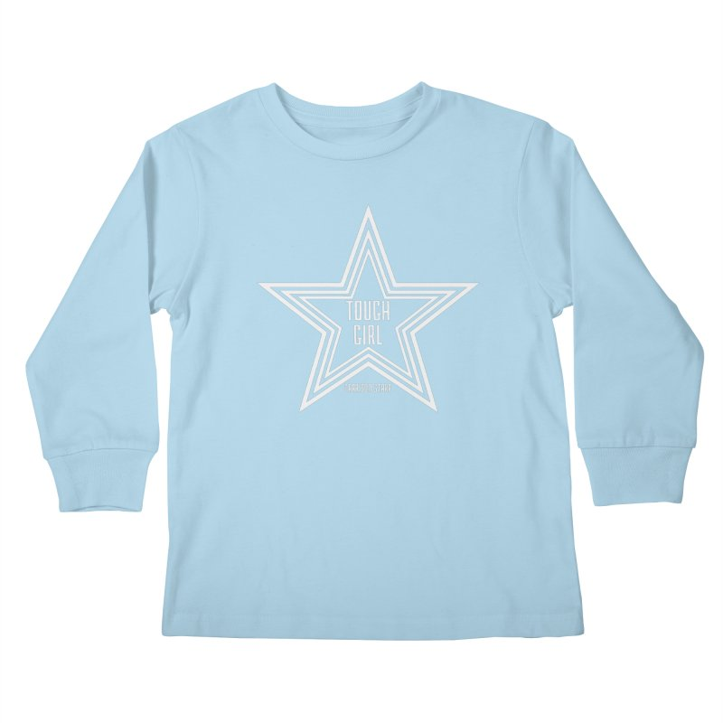 Tough Girl Star - Light Gray Kids Longsleeve T-Shirt by Garrison Starr's Artist Shop