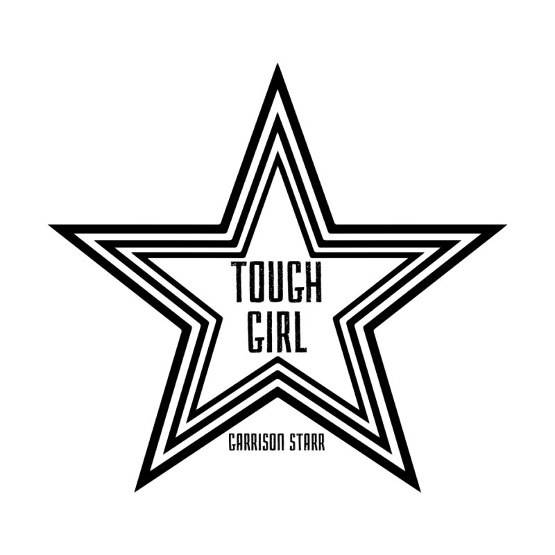 Tough Girl Star - Black Home Rug by Garrison Starr's Artist Shop