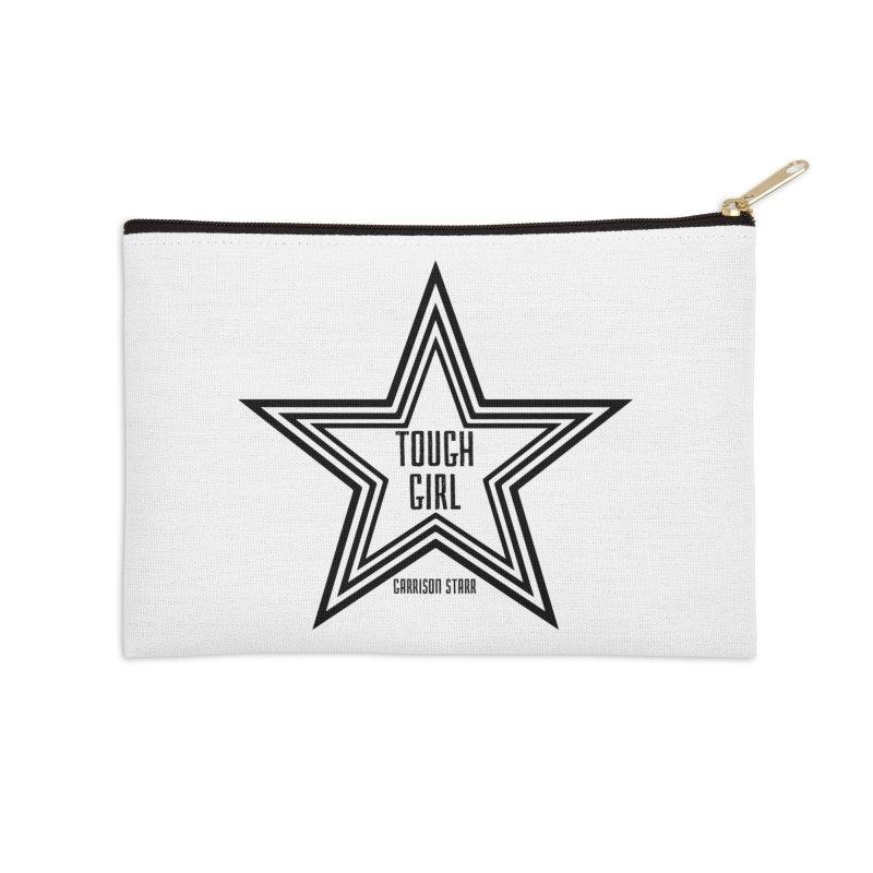 Tough Girl Star - Black Accessories Zip Pouch by Garrison Starr's Artist Shop