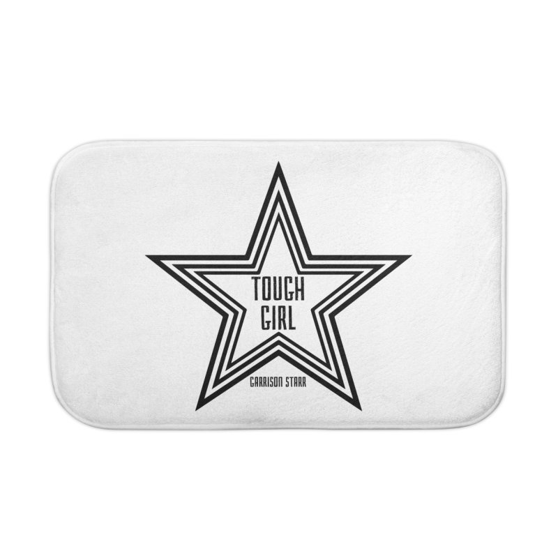 Tough Girl Star - Black Home Bath Mat by Garrison Starr's Artist Shop