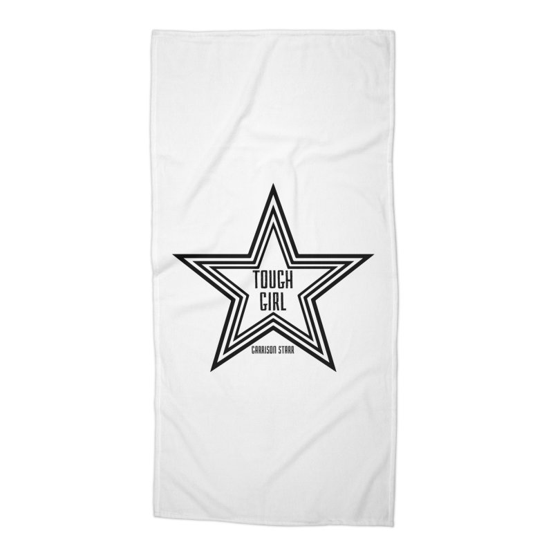 Tough Girl Star - Black Accessories Beach Towel by Garrison Starr's Artist Shop