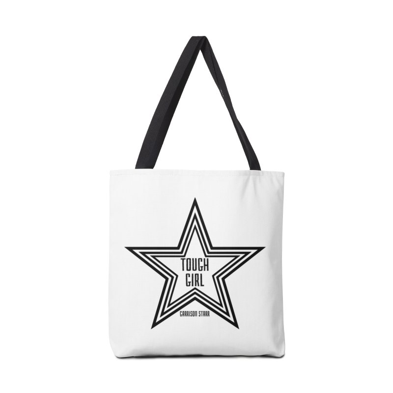 Tough Girl Star - Black Accessories Bag by Garrison Starr's Artist Shop