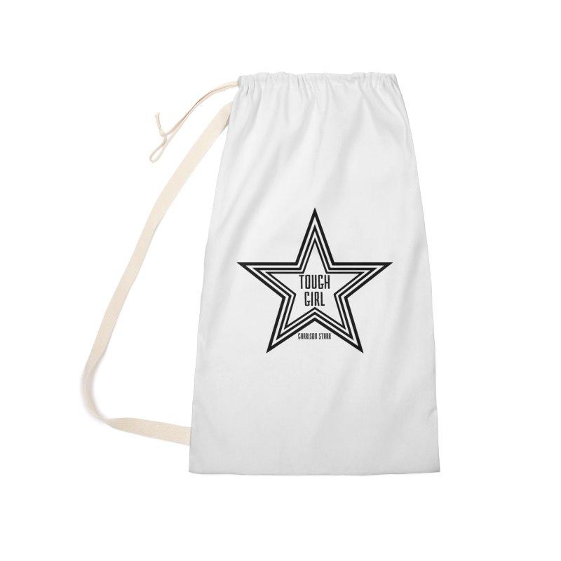 Tough Girl Star - Black Accessories Bag by Garrison Starr's Artist Shop