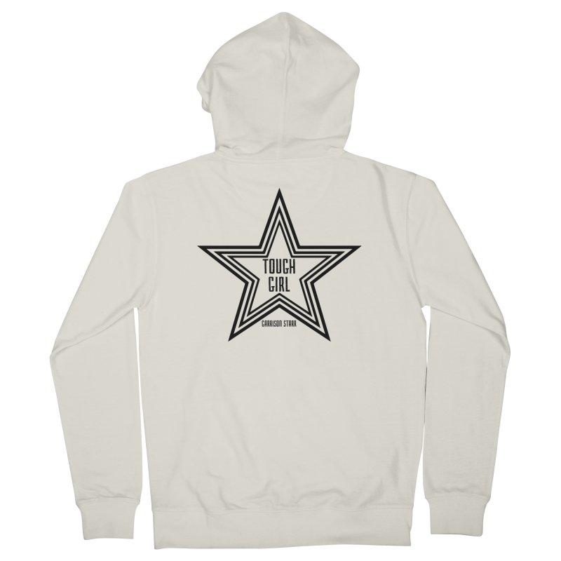 Tough Girl Star - Black Men's French Terry Zip-Up Hoody by Garrison Starr's Artist Shop