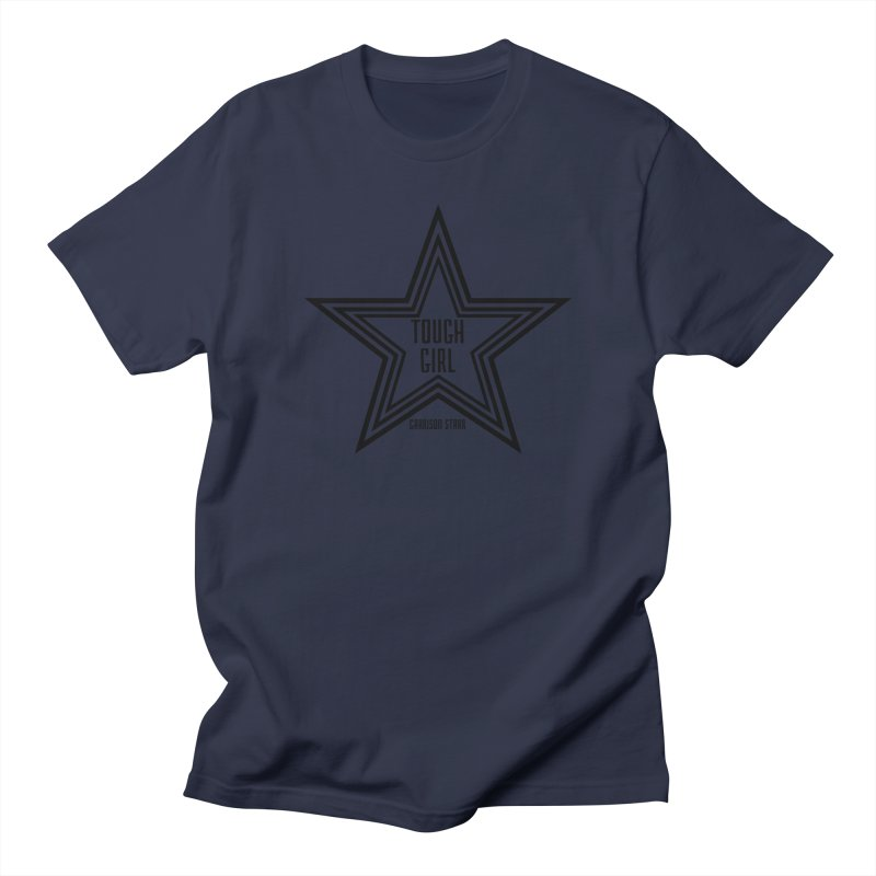 Tough Girl Star - Black Women's Regular Unisex T-Shirt by Garrison Starr's Artist Shop