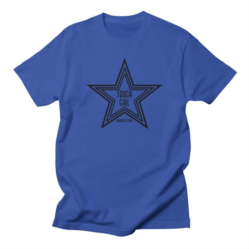 Tough Girl Star - Black Men's Regular T-Shirt by Garrison Starr's Artist Shop