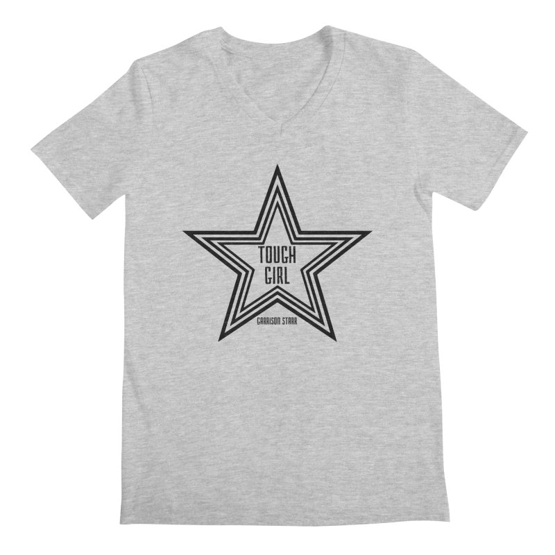 Tough Girl Star - Black Men's V-Neck by Garrison Starr's Artist Shop