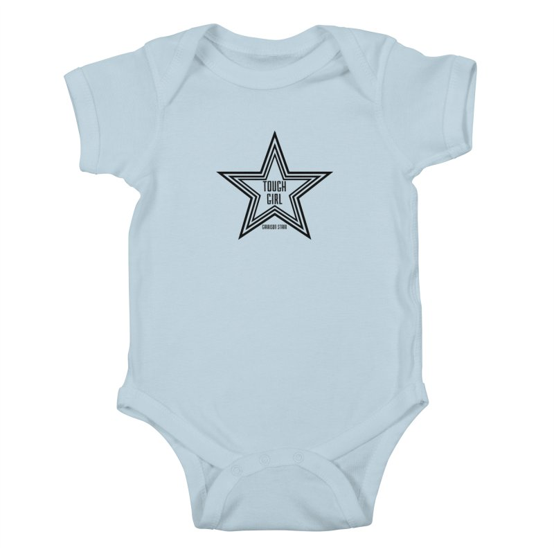 Tough Girl Star - Black Kids Baby Bodysuit by Garrison Starr's Artist Shop