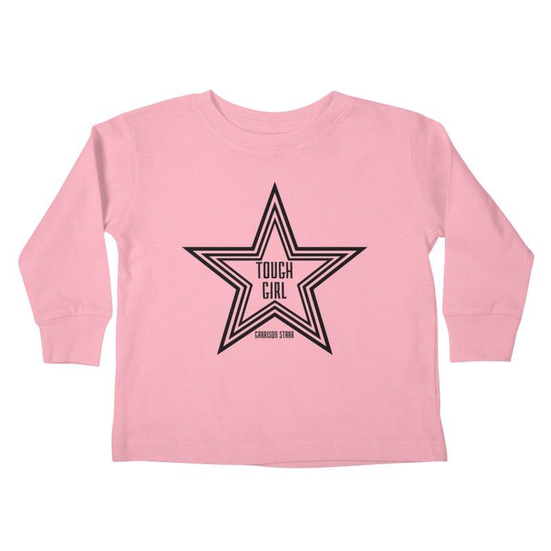 Tough Girl Star - Black Kids Toddler Longsleeve T-Shirt by Garrison Starr's Artist Shop