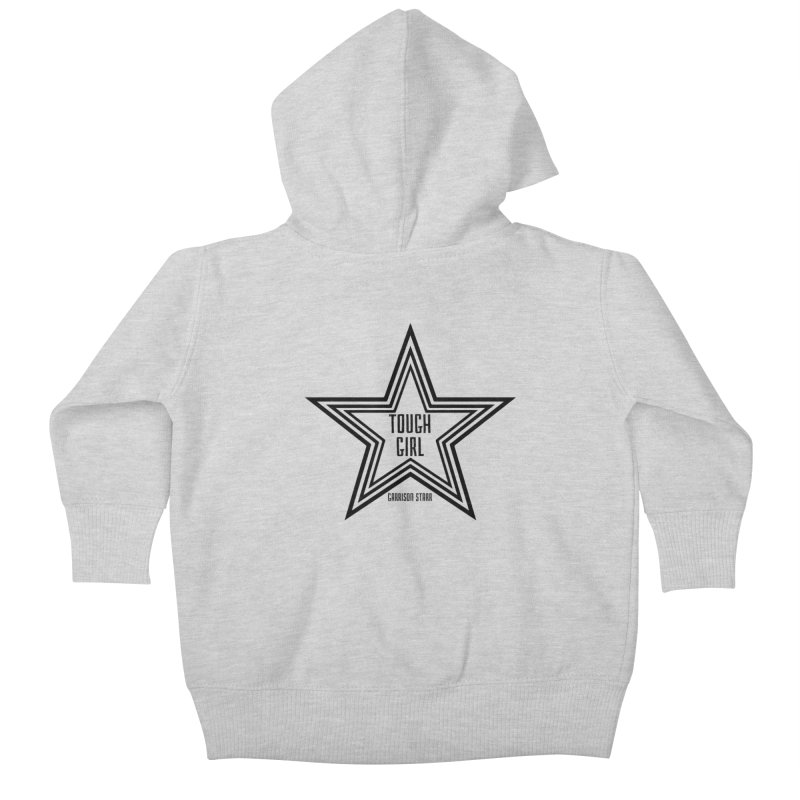 Tough Girl Star - Black Kids Baby Zip-Up Hoody by Garrison Starr's Artist Shop