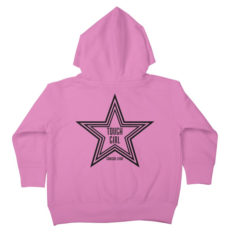 Tough Girl Star - Black Kids Toddler Zip-Up Hoody by Garrison Starr's Artist Shop