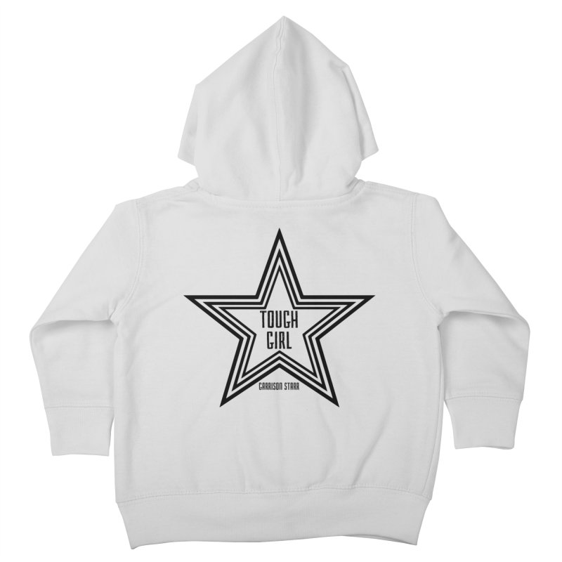 Tough Girl Star - Black Kids Toddler Zip-Up Hoody by Garrison Starr's Artist Shop