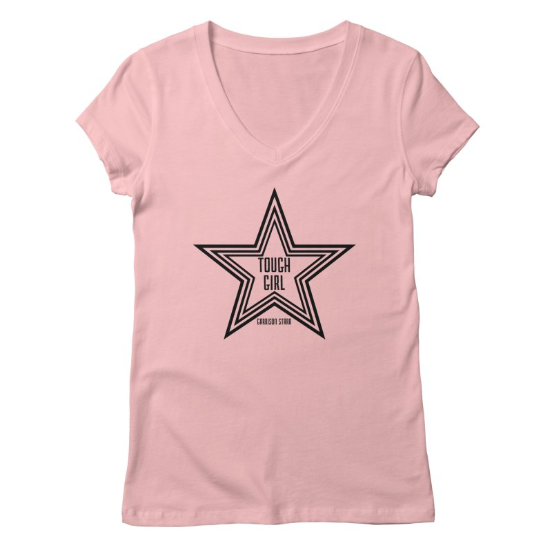 Tough Girl Star - Black Women's V-Neck by Garrison Starr's Artist Shop