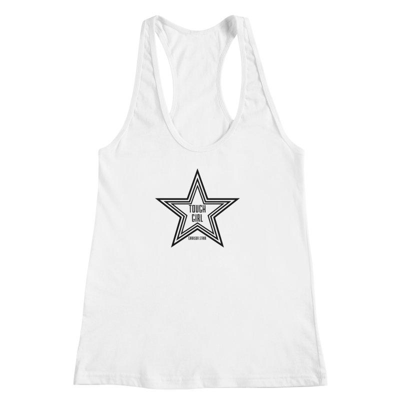Tough Girl Star - Black Women's Racerback Tank by Garrison Starr's Artist Shop