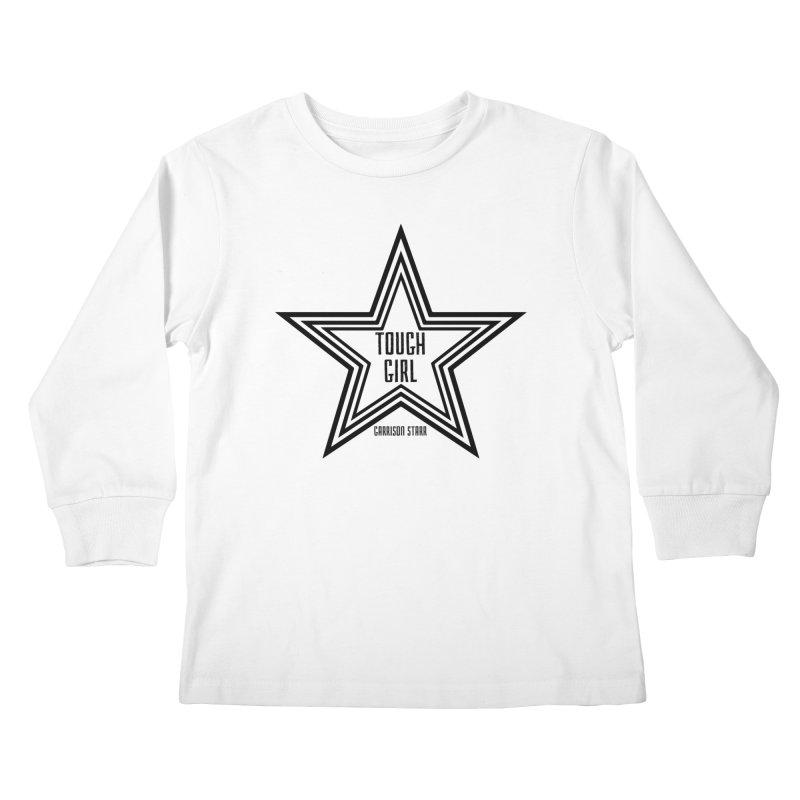 Tough Girl Star - Black Kids Longsleeve T-Shirt by Garrison Starr's Artist Shop