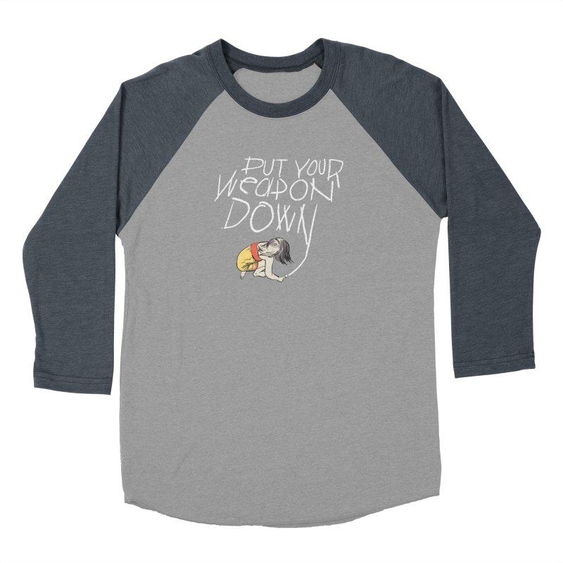 Put Your Weapon Down Men's Baseball Triblend Longsleeve T-Shirt by Garrison Starr's Artist Shop