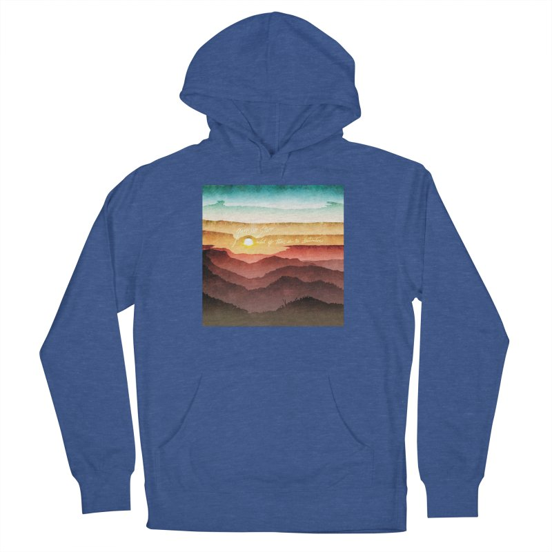 What If There Is No Destination Men's French Terry Pullover Hoody by Garrison Starr's Artist Shop
