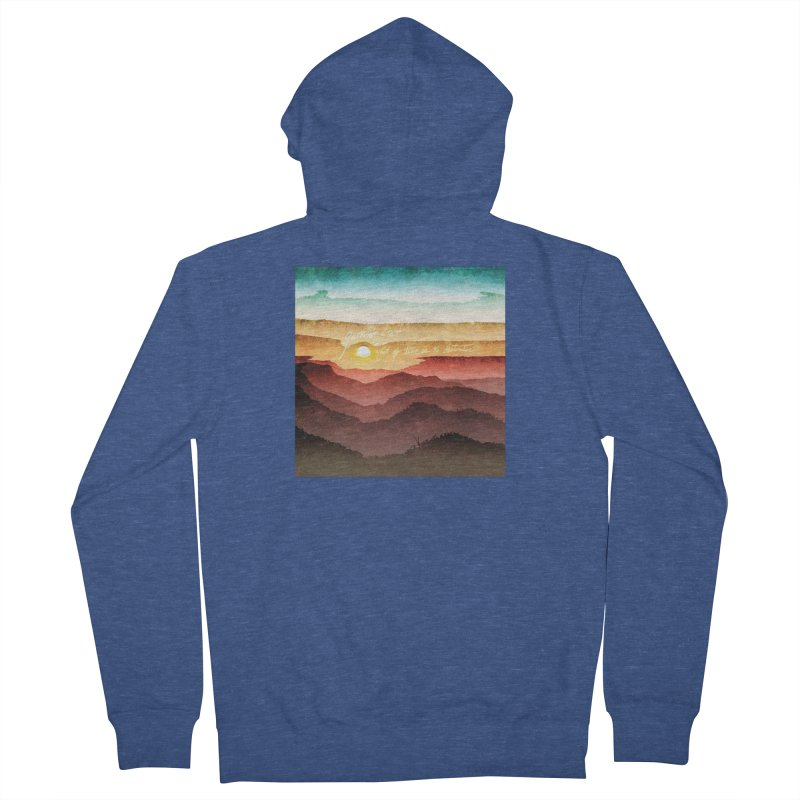 What If There Is No Destination Women's French Terry Zip-Up Hoody by Garrison Starr's Artist Shop