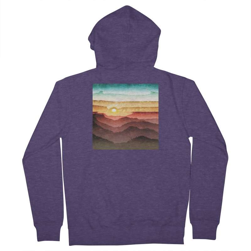 What If There Is No Destination Men's French Terry Zip-Up Hoody by Garrison Starr's Artist Shop