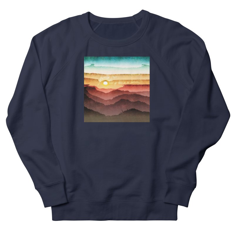 What If There Is No Destination Men's French Terry Sweatshirt by Garrison Starr's Artist Shop