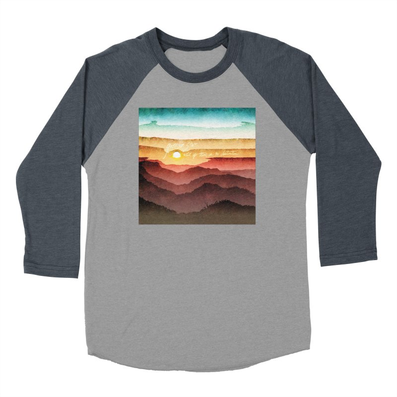 What If There Is No Destination Men's Baseball Triblend Longsleeve T-Shirt by Garrison Starr's Artist Shop