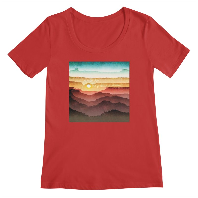 What If There Is No Destination Women's Regular Scoop Neck by Garrison Starr's Artist Shop