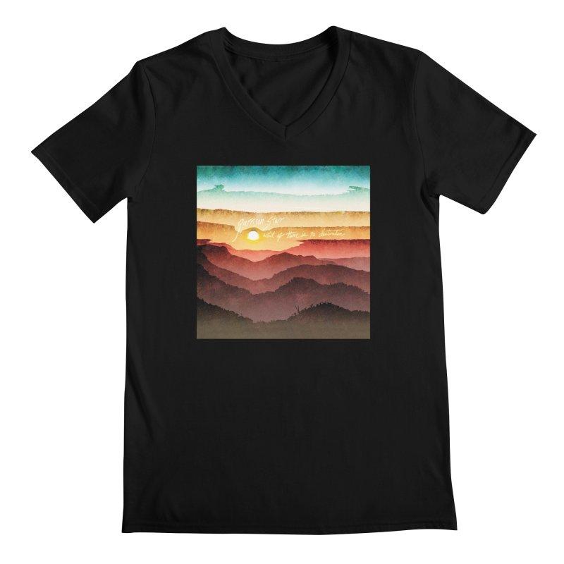What If There Is No Destination Men's Regular V-Neck by Garrison Starr's Artist Shop
