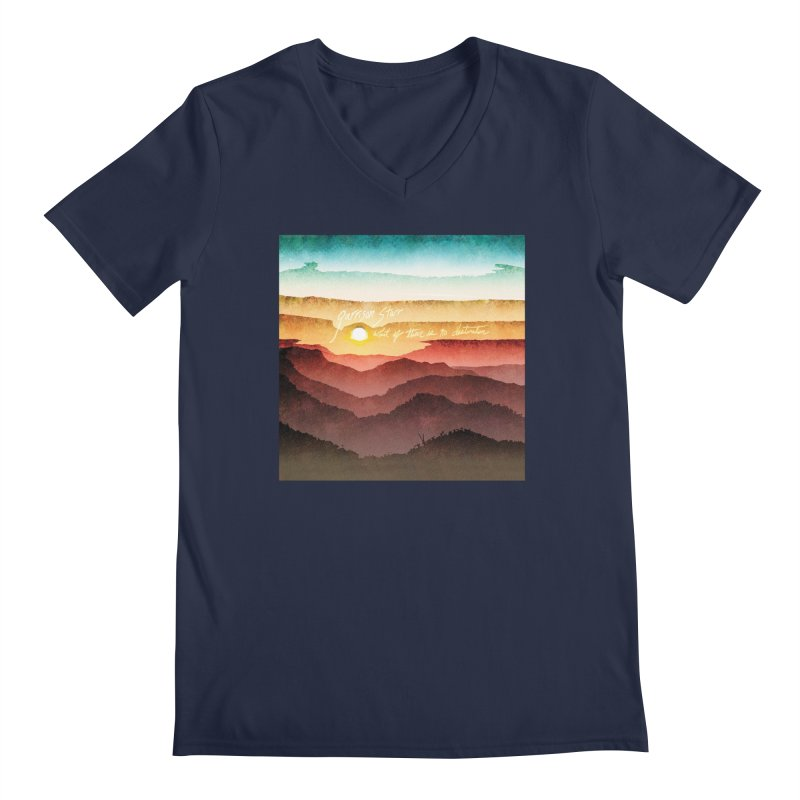 What If There Is No Destination Men's V-Neck by Garrison Starr's Artist Shop