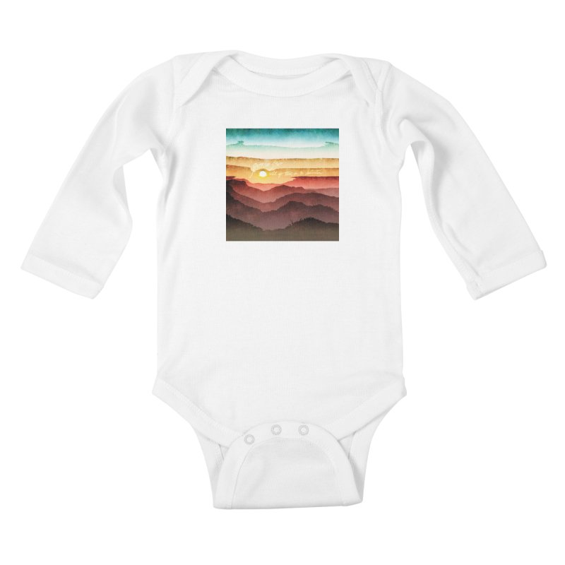 What If There Is No Destination Kids Baby Longsleeve Bodysuit by Garrison Starr's Artist Shop