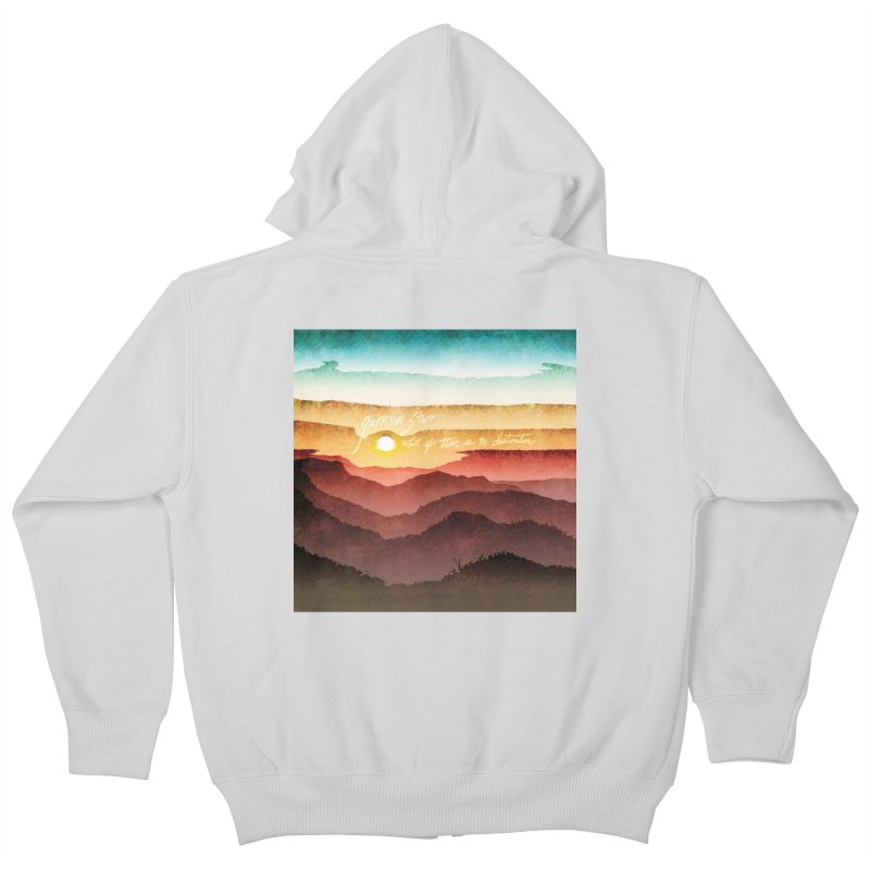 What If There Is No Destination Kids Zip-Up Hoody by Garrison Starr's Artist Shop