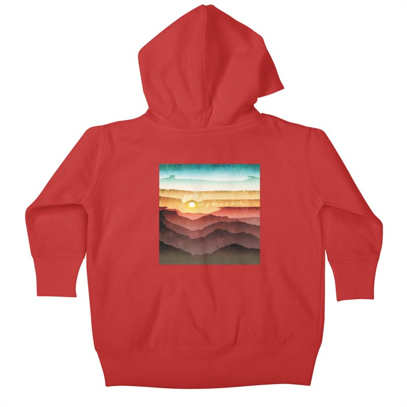 What If There Is No Destination Kids Baby Zip-Up Hoody by Garrison Starr's Artist Shop