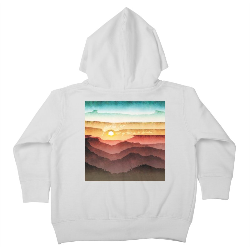What If There Is No Destination Kids Toddler Zip-Up Hoody by Garrison Starr's Artist Shop