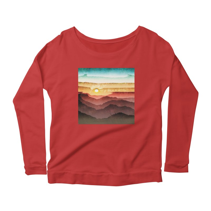 What If There Is No Destination Women's Scoop Neck Longsleeve T-Shirt by Garrison Starr's Artist Shop