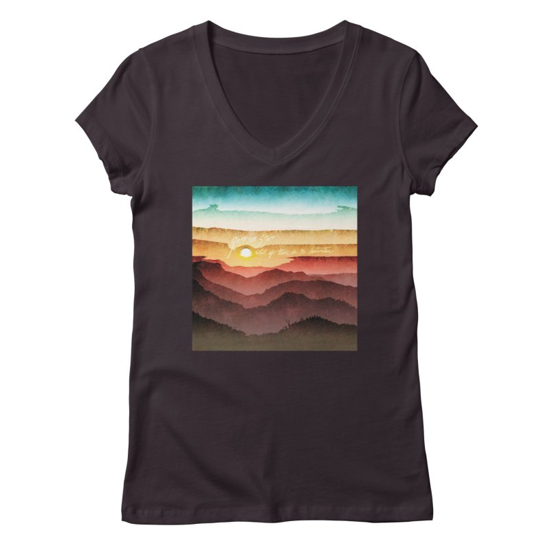 What If There Is No Destination Women's V-Neck by Garrison Starr's Artist Shop