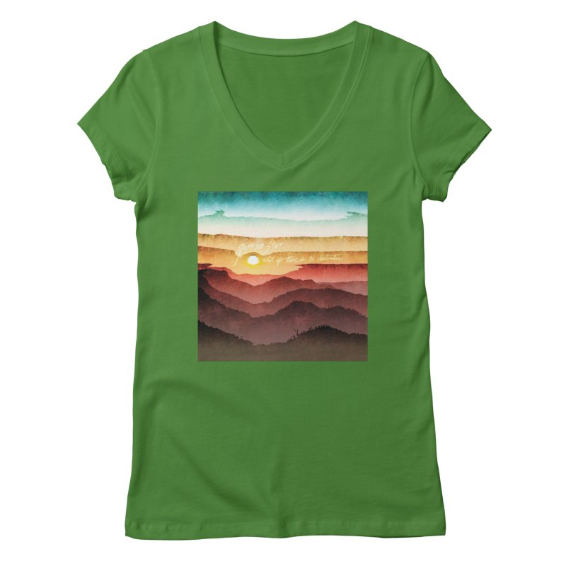 What If There Is No Destination Women's Regular V-Neck by Garrison Starr's Artist Shop