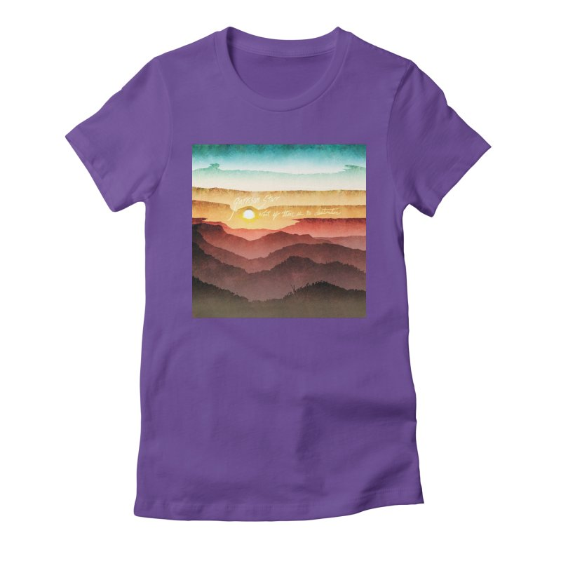 What If There Is No Destination Women's Fitted T-Shirt by Garrison Starr's Artist Shop
