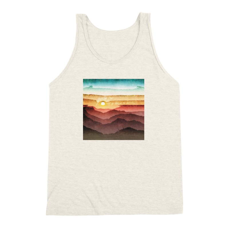 What If There Is No Destination Men's Triblend Tank by Garrison Starr's Artist Shop